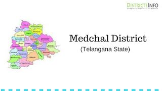 Medchal District with Mandals