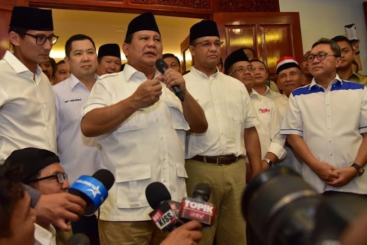 Kepastian Anies Maju Pilpres 2019 di Tangan Prabowo
