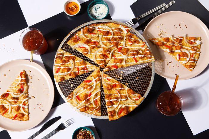 Yellow Cab's Hot Chix Pizza