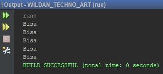 WildanTechnoArt-For Loops Example Java Programming