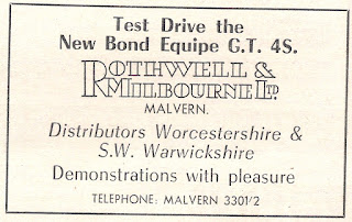 Rothwell & Milbourne of Malvern advert from Motor 14 November 1964