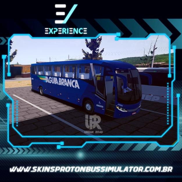 Skins Proton Bus Simulator Road - Comil Invictus MB O-500 RS Viação Aguia Branca