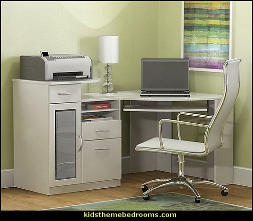 Space Saving Built In Office Furniture In Corners: Decorating Theme Bedrooms