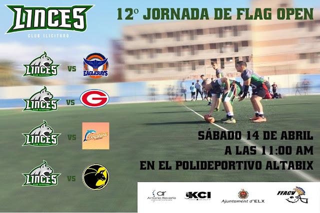 FLAG FOOTBALL - Este fin de semana Jornada 12 de la Liga Valenciana Open en Elche