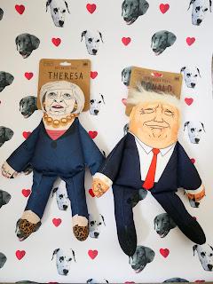 Trump and theresa dog toys