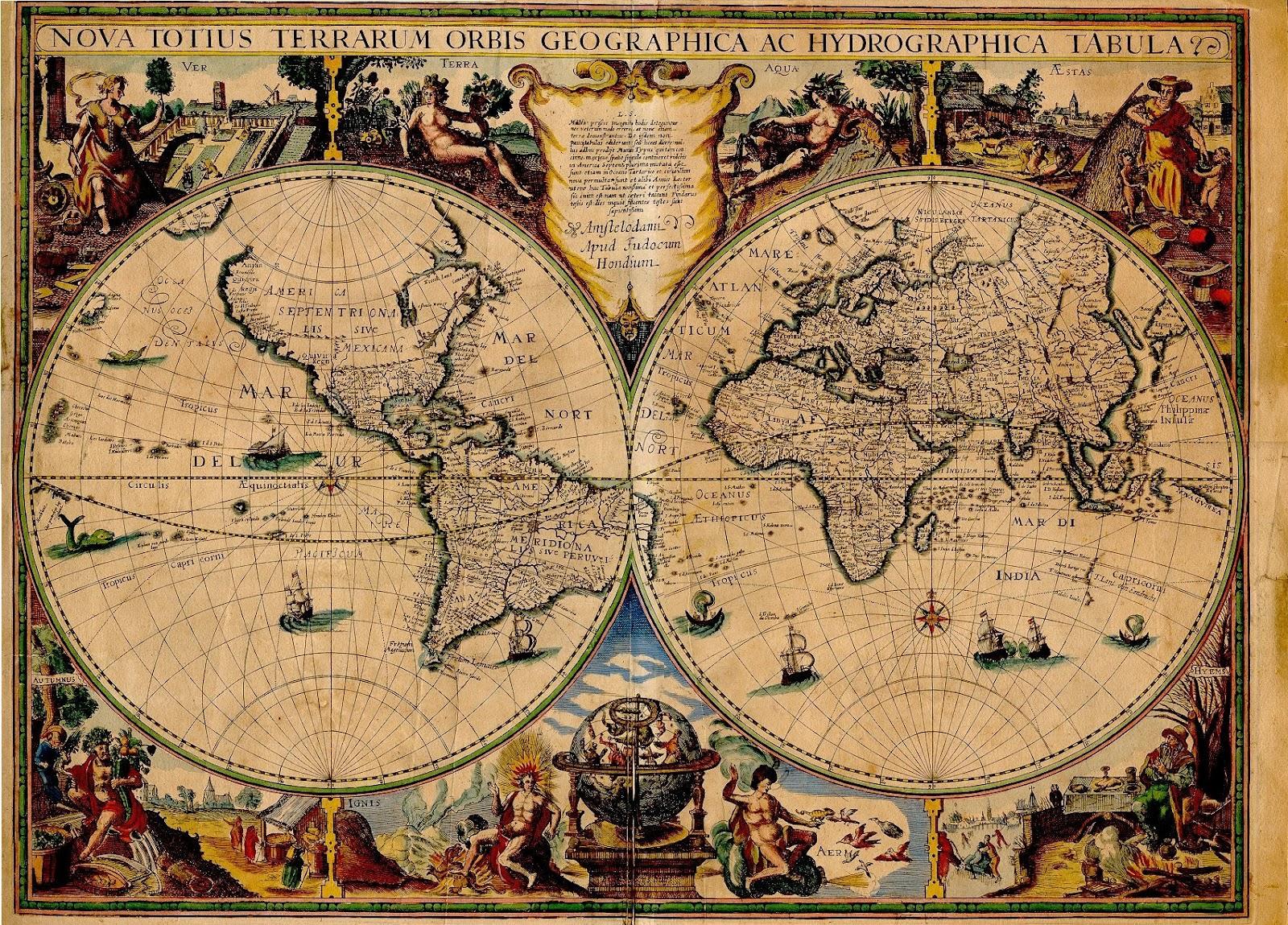 Ancient World Maps World Map 17th Century