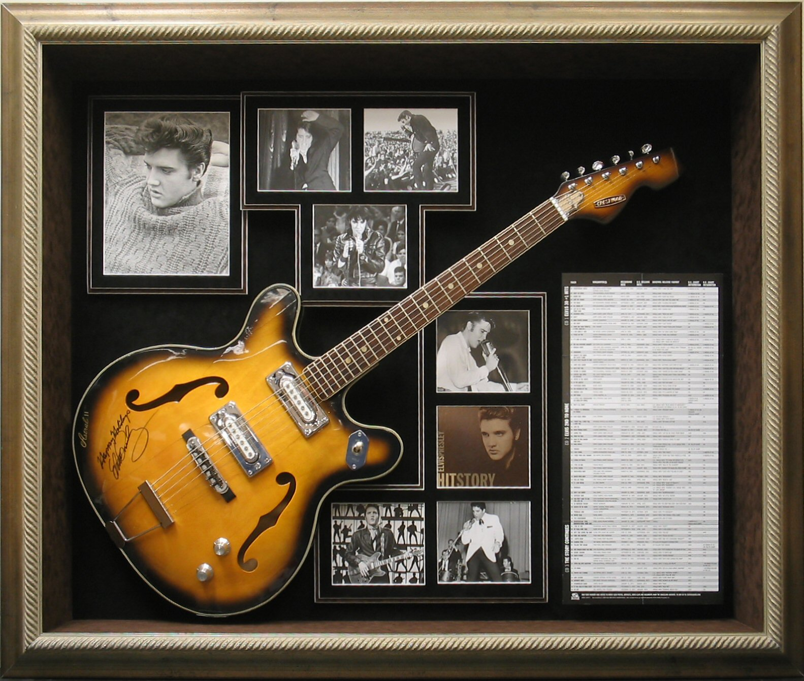 I Simply Adore Elvis, And Any Signed Piece From Him Is Truly An Amazing  Prize To Show Off. A Custom Guitar Display Case With Elvisu0027 Photos? Iu0027m  Spent.