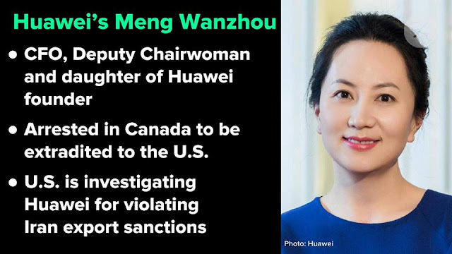 Bắt sếp Huawei đúng ngày các ông Trump-Tập đạt thỏa thuận