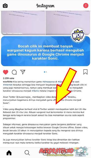 Cara Copy Teks Dari Instagram