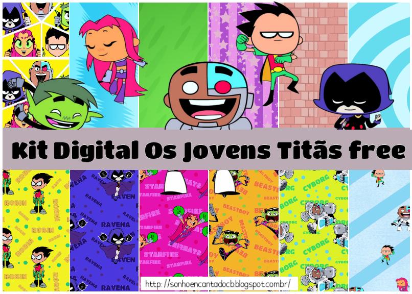 Kit Digital Os Jovens Titãs Free