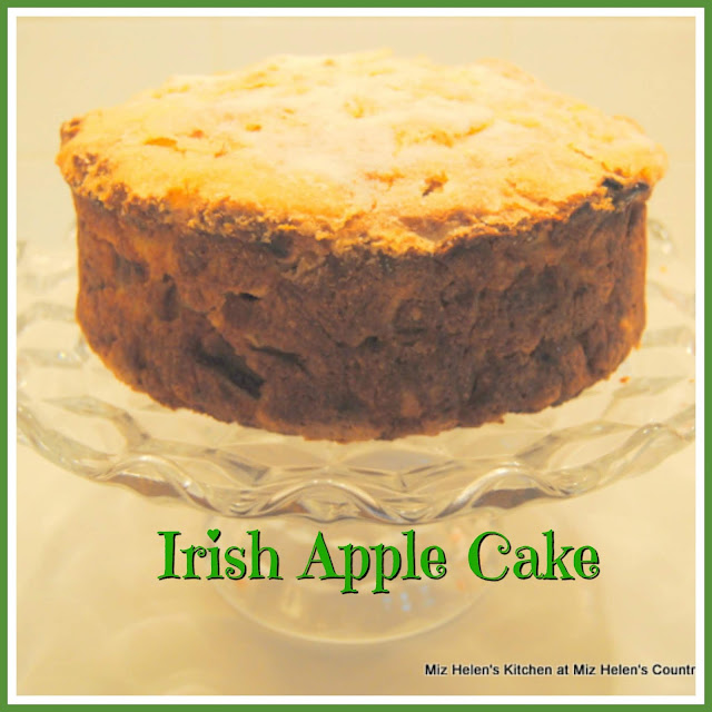 Irish Apple Cake at Miz Helen's Country Cottage