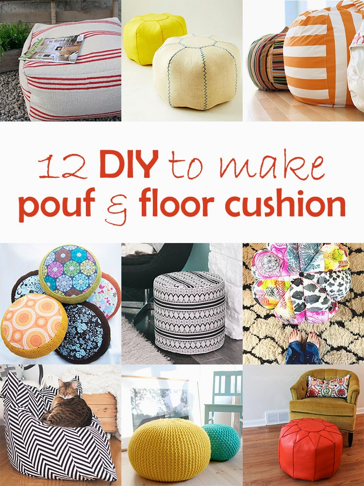 Terrific Diy Monday Pouf And Floor Cushion Ohoh Deco Machost Co Dining Chair Design Ideas Machostcouk
