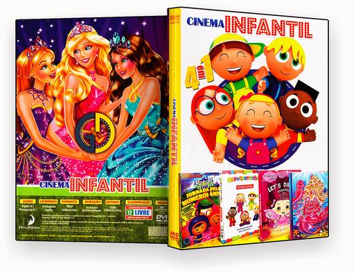 CAPA DVD – Coleção – Cinema Infantil – 4 em 1 – ISO