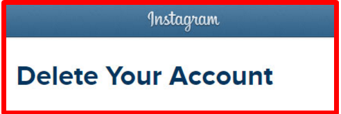 How to Delete an Instagram Page