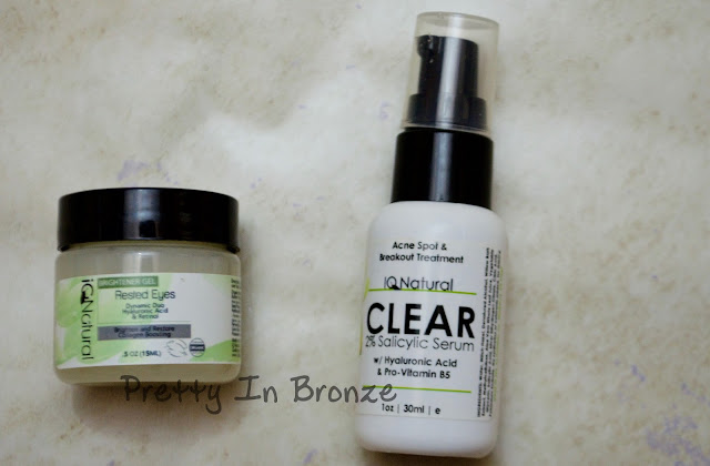 iQ Natural Skincare ~ Eye Gel and Acne Serum Review