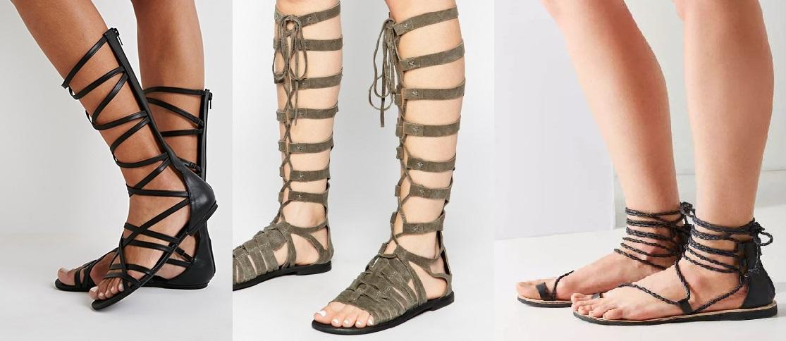 Είναι το καλοκαιρινό χιτ στα παπούτσια. Τα φλατ σανδάλια με κορδόνια τα έχουμε  λατρέψει. Η περίοδος των εκπτώσεων δεν έχει τελειώσει. ff9fab25899