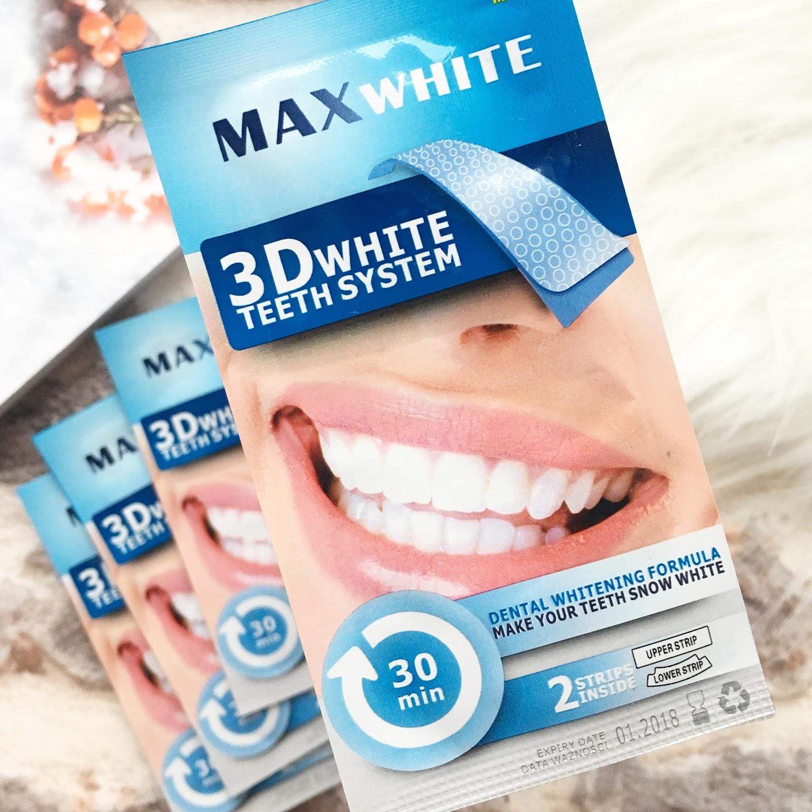 Wybielanie zębów za pomocą pasków Max White