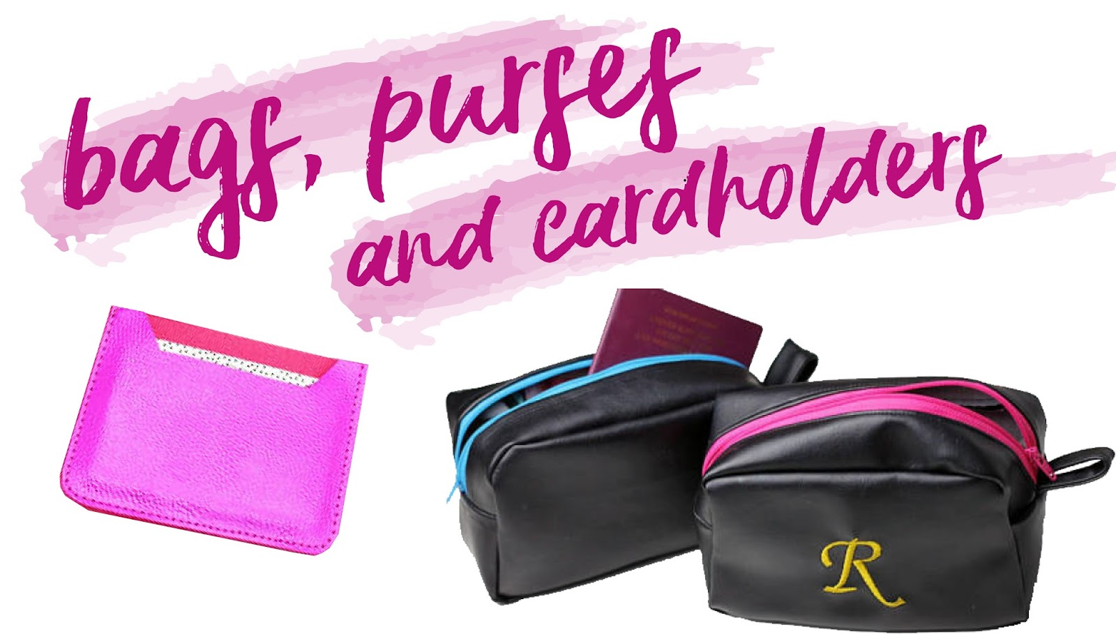 faux leather bags, purses and cardholders from small businesses Christmas gift guide
