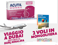 Logo Acutil Donna ''Nessun limite, neanche il cielo'': vinci 36 kit da 2 cofanetti Smartbox e 1 viaggio a Dubai