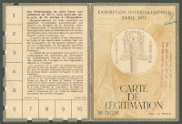 "A printed ""Carte de Légitimation."""