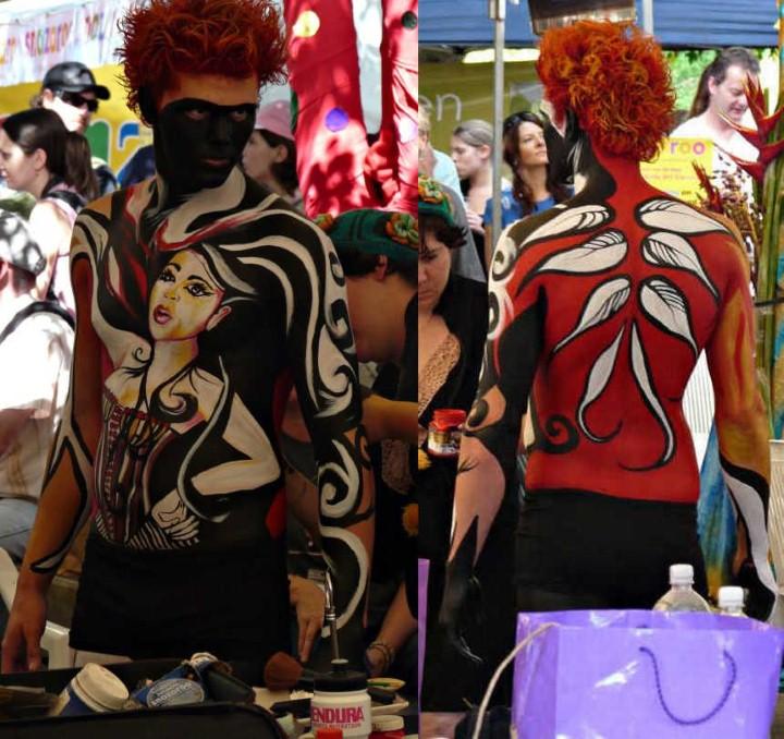 Австралийский бодиарт карнавал 14