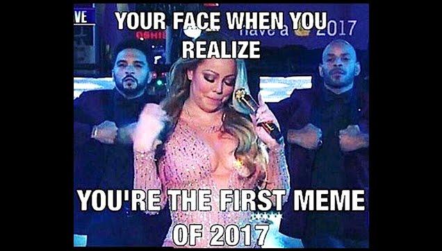 Mariah Carey first meme of 2017
