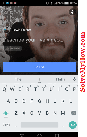 how to go live on facebook for android and iPhone