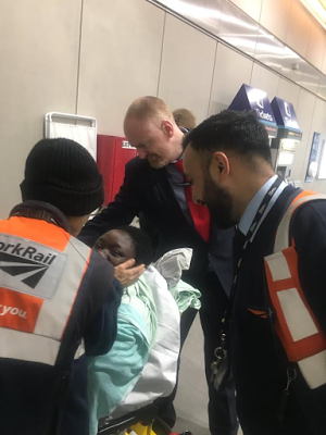 Woman deliver baby boy on a train at London Bridge station