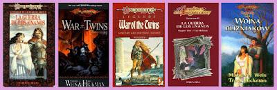 portadas del libro de fantasía épica La guerra de los enanos, de las leyendas de la dragonlance