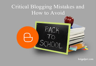 Critical Blogging Mistakes