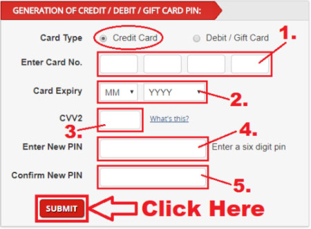 how to generate kotak mahindra credit card pin