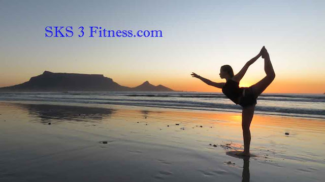 Women showing How to do Natarajasana Steps on beach