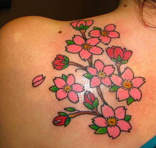 flowers tattoo designs for girls back 2