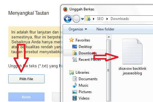 Info Cara Menggunakan Disavow Backlinks