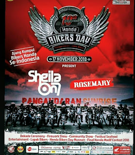 Pangandaran Honda Bikers Day 2018