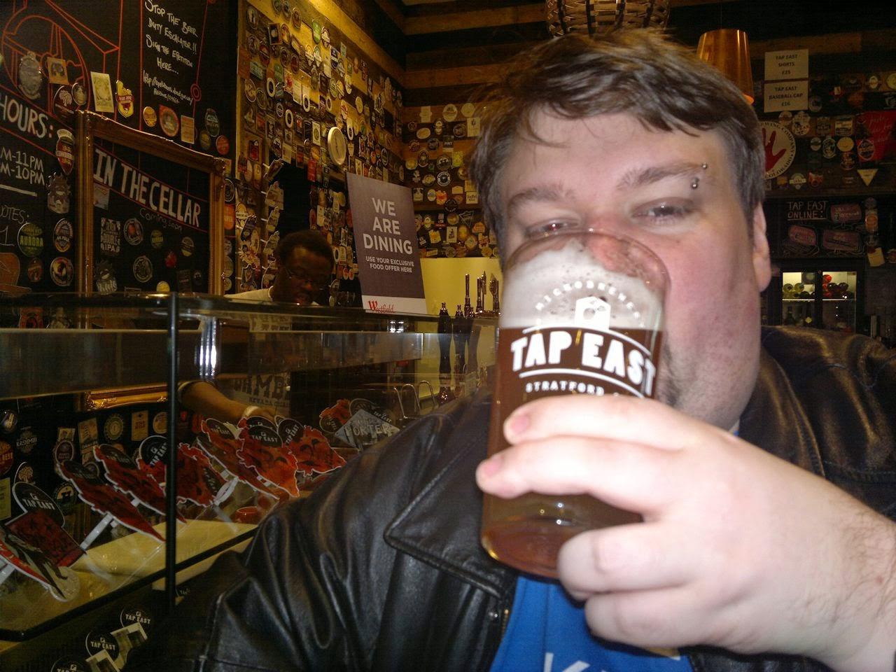 Ben drinking in Tap East