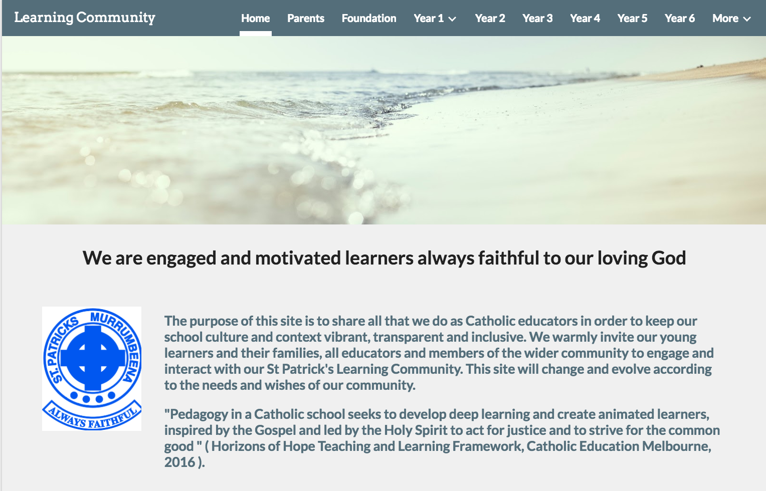 Our Learning Community Site