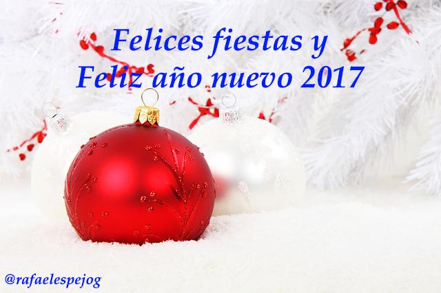 felices fiestas y feliz año nuevo 2017