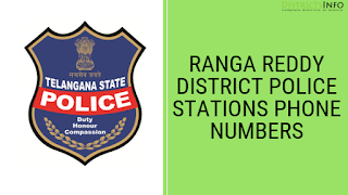 ranga reddy district Police Stations Phone Numbers