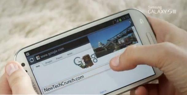 Samsung Galaxy s3 design features pop up screen