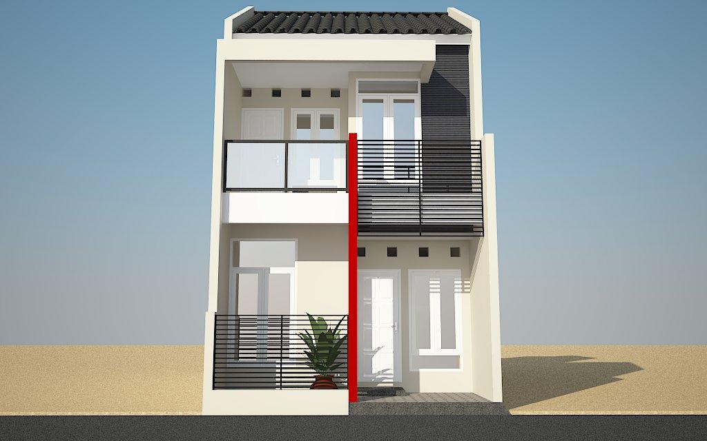 Rumah Minimalis 2 Lantai Type 70 Terbaru Tampak Depan - Desain Rumah