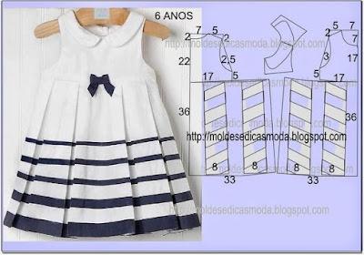 платье в морском стиле для девочки с выкройкой