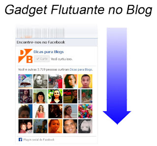 Colocar Gadget Flutuante no Blogger