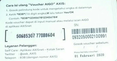 cara memasukkan voucher axis paket aigo