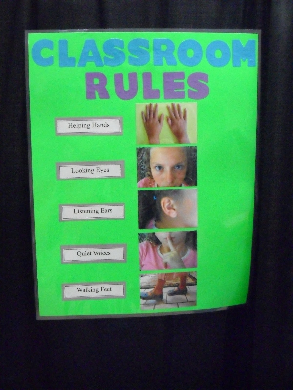 Ot Tools For Public Schools Classroom Rules Chart