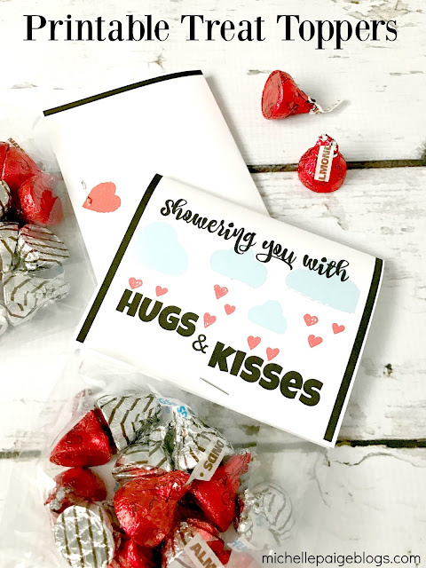 Hugs and Kisses Printable Valentines