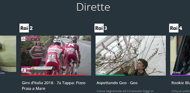 Dirette streaming canali Rai