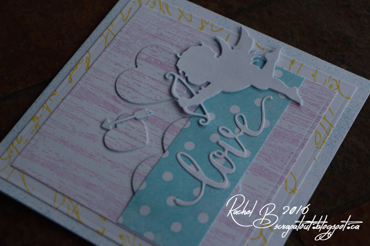 Scrapatout - Handmade card, Impression Obsession, Love, Cupid, Cover-A-Card