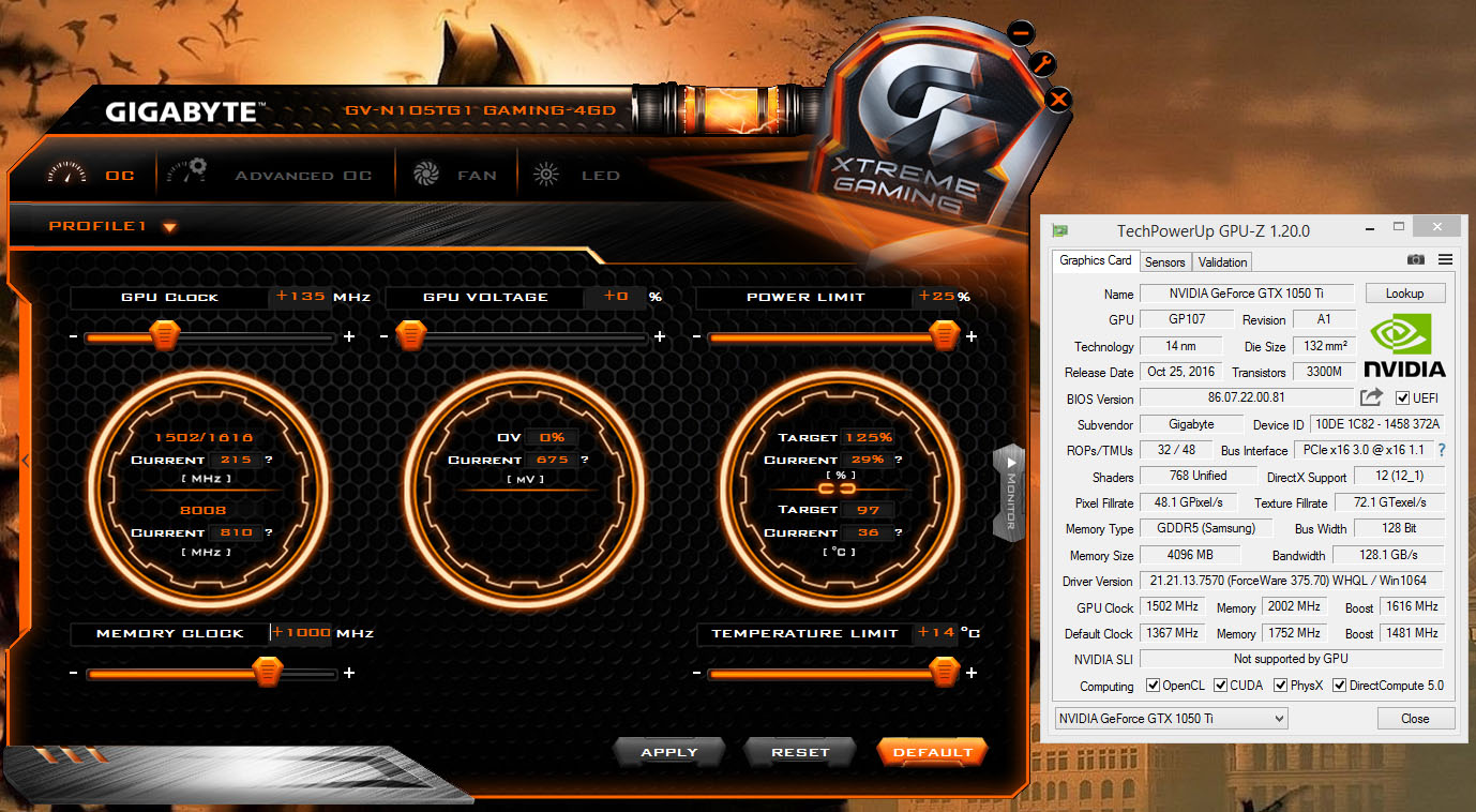 gigabyte gtx 1050 drivers windows 10