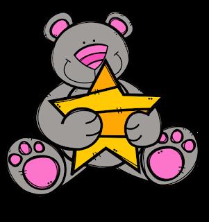Clipart de Ositos con Estrellas.